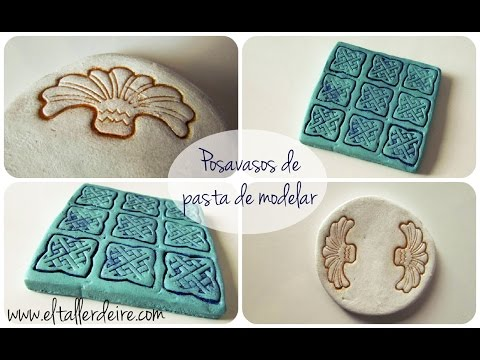 Cómo hacer posavasos con pasta de modelar