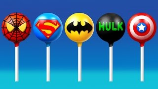 getlinkyoutube.com-Super Hero's Cake Pop Finger Family Song