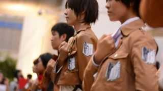 getlinkyoutube.com-[Thailand] Flash-mob Attack on Titan
