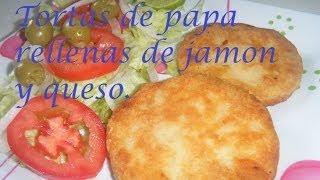getlinkyoutube.com-Tortas de papa rellenas de jamon.