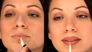 getlinkyoutube.com-Уроки макияжа. Увеличение губ с помощью косметики. Как увеличить губы с помощью макияжа.