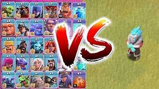 getlinkyoutube.com-ALL TROOPS vs. ICE WIZARD!! 😀TROLL TO DEATH!🔸Clash Of Clans