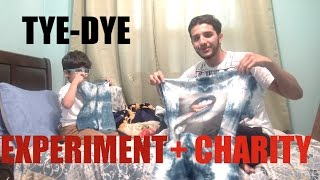 Experiment Tie-Dye with baby bro + CHARITY INFO!