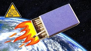 getlinkyoutube.com-Как сделать ракету из спичек (How to make a rocket from matches)