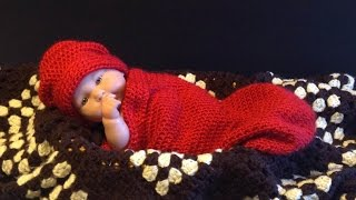 How to crochet Easy Newborn Baby Infant Cocoon tutorial