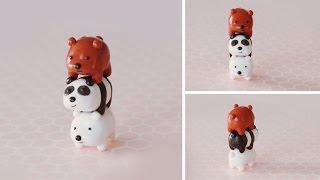 getlinkyoutube.com-Stack of Bears Polymer Clay Tutorial | We Bare Bears #bearstack