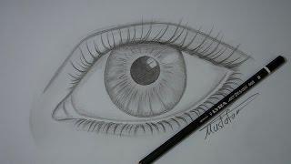 تعلم رسم العين بالرصاص للمبتدئين مع الخطوات