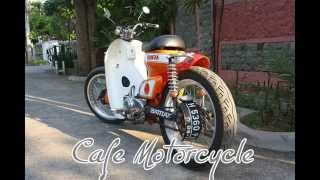 getlinkyoutube.com-Honda Cub C70  Cafe Racer Street  12KS Super Cub