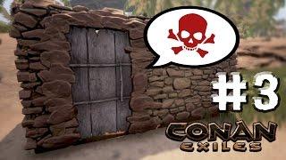 """💪🏿 새 집에 쳐들어온 """"식인종, 악어, 하이애나""""까지... 고난 운자일 ㅠ ㅠ [ 코난 엑자일 #3 : Conan Exiles ] PC게임 [ 운학 TV ]"""