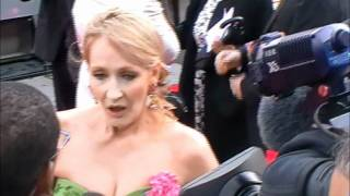 JK Rowling at the Harry Potter World Premiere