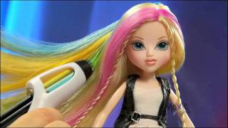getlinkyoutube.com-Moxie Girlz Magic Hair Color Streak Studio