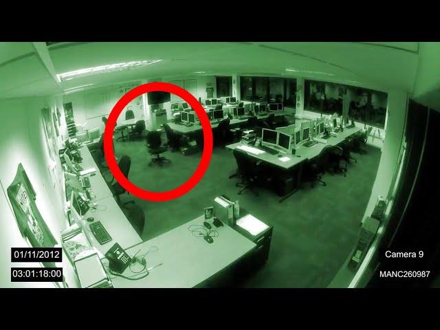 Manchester Poltergeist Caught on CCTV - 1/11/2012