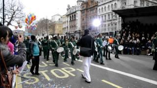 New Year's Day Parade 2012 London - TAKI, The Kimbanguist Brass Band, Congo