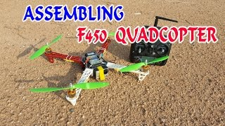 How to Assembling F450 Quadcopter at home