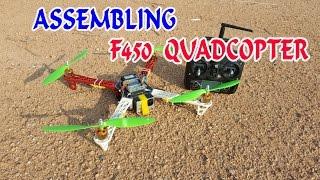 getlinkyoutube.com-How to Assembling F450 Quadcopter at home