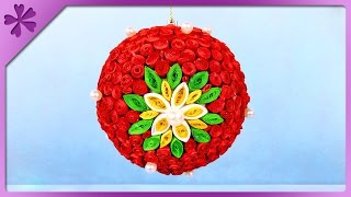 getlinkyoutube.com-DIY Quilling Christmas ball (ENG Subtitles) - Speed up #281