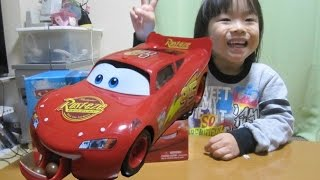 getlinkyoutube.com-CARS Lightning McQueen Chocolate Bank  カーズ チョコレートバンク