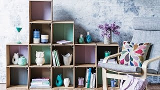 getlinkyoutube.com-DIY PROJECT: Cardboard box shelves - homes+