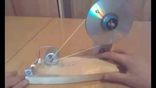 Простейший генератор из cd моторчика