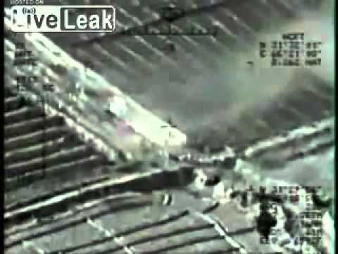 USAF MQ-1 Predator Drone Engage Insurgents & Insurgent Vehicle. Afghanistan