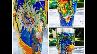 "getlinkyoutube.com-Swirl Painting/ ""Hydro"" Dipping Tumblers"
