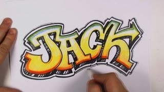 getlinkyoutube.com-How to Draw Graffiti Letters - Jack in Graffiti Lettering