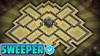 getlinkyoutube.com-CLASH OF CLANS - TOWNHALL 9 (TH9) TROPHY/CLAN WARS BASE w/ Air Sweeper!! (revamp)