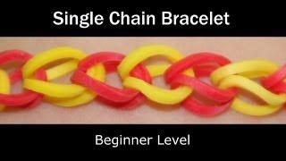 getlinkyoutube.com-Rainbow Loom® Single Chain Bracelet - Lesson 1