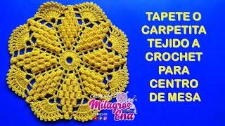 getlinkyoutube.com-Tapete o carpetita tejido a crochet para centro de mesa