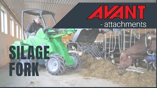 Silage Fork, Avant 300-700 Series attachment