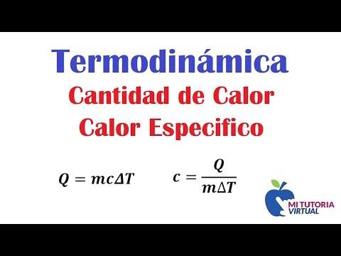 Cantidad de Calor - Calor Especifico - Termodinamica - Video 090