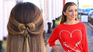 getlinkyoutube.com-How to Create a Pancaked Heart Half-Up Hairstyle | Valentine's Day Hairstyles