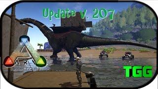 getlinkyoutube.com-Ark: Survival Evolved | Update v.207 Bronto Platform, Pachy, Buggy, Raft (Ark Updates)