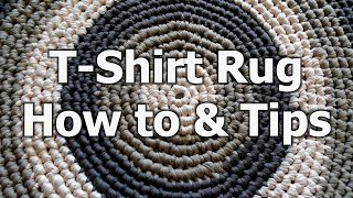 getlinkyoutube.com-Crochet T Shirt Yarn Rug - How to & tips - Crochet Tutorial