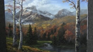 getlinkyoutube.com-Paint with Kevin Hill - Autumn Birch Trees