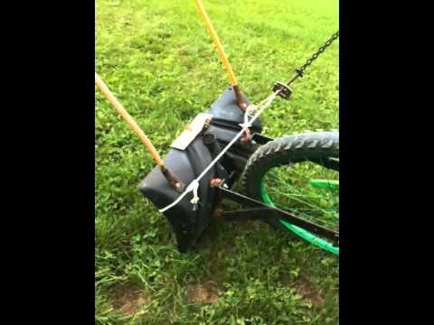 homemade mini dump bike with plow