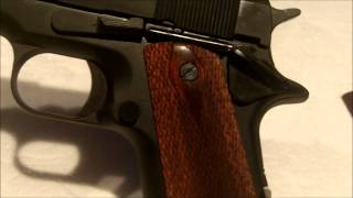 getlinkyoutube.com-M1911 NonFiring Replica Gun 01-301 Kimar - US Government Model 45