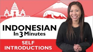 getlinkyoutube.com-Learn Indonesian - Indonesian in Three Minutes - How to Introduce Yourself in Indonesian
