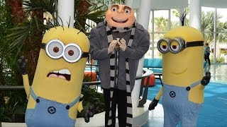 The Minions and Gru Welcome Guests on Opening Day of Universal's Cabana Bay Beach Resort