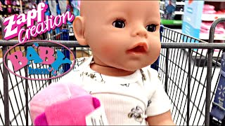 Outing to Walmart and Feeding with Zapf Creations Baby Born Boy Doll Flynn