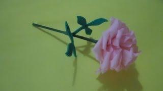 getlinkyoutube.com-Mini flor de papel crepé   PumitaNegraArt🐾