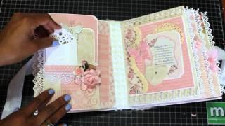 getlinkyoutube.com-Baby Girl Mini Scrapbook Album August 2015 *SOLD*