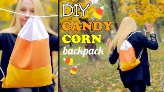 getlinkyoutube.com-DIY Candy Corn Backpack – How To Make a Candy Corn Drawstring Bag