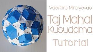 getlinkyoutube.com-Origami Taj Mahal Kusudama Tutorial