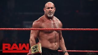 Goldberg meets Brock Lesnar face-to-face before WrestleMania: Raw, March 27, 2017