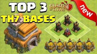 getlinkyoutube.com-NEW TOP 3 TH7 Bases - Clash of Clans | DE Farming + Trophy + Farming Base