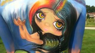 getlinkyoutube.com-Skinspiration - Body Painting Retreat
