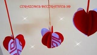 getlinkyoutube.com-MANUALIDADES:CORAZONES DECORATIVOS 3D