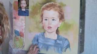 getlinkyoutube.com-Painting a Pastel Portrait, by Graciela Bombalova