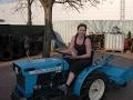 Mini ciągnik ISEKI  TU155 F z kultywatorem. www.traktorki.waw.pl